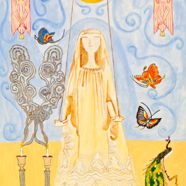 van Erkelens puppet as the Queen of peace